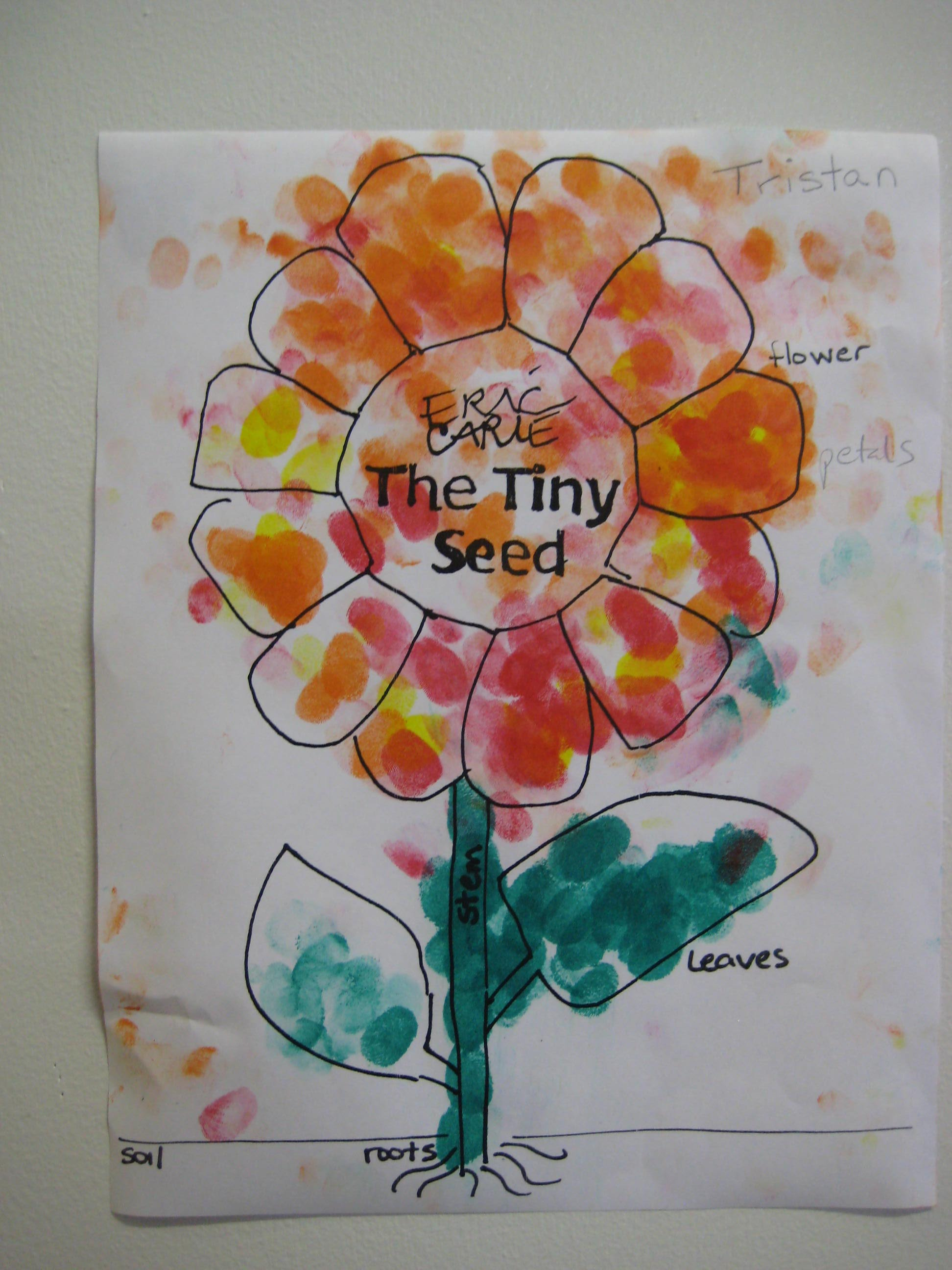 Spring Sally Savas – The Tiny Seed Worksheets